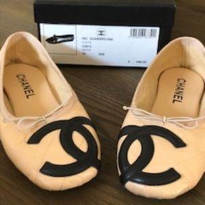 Chanel Ballet Flat Beige Size 36